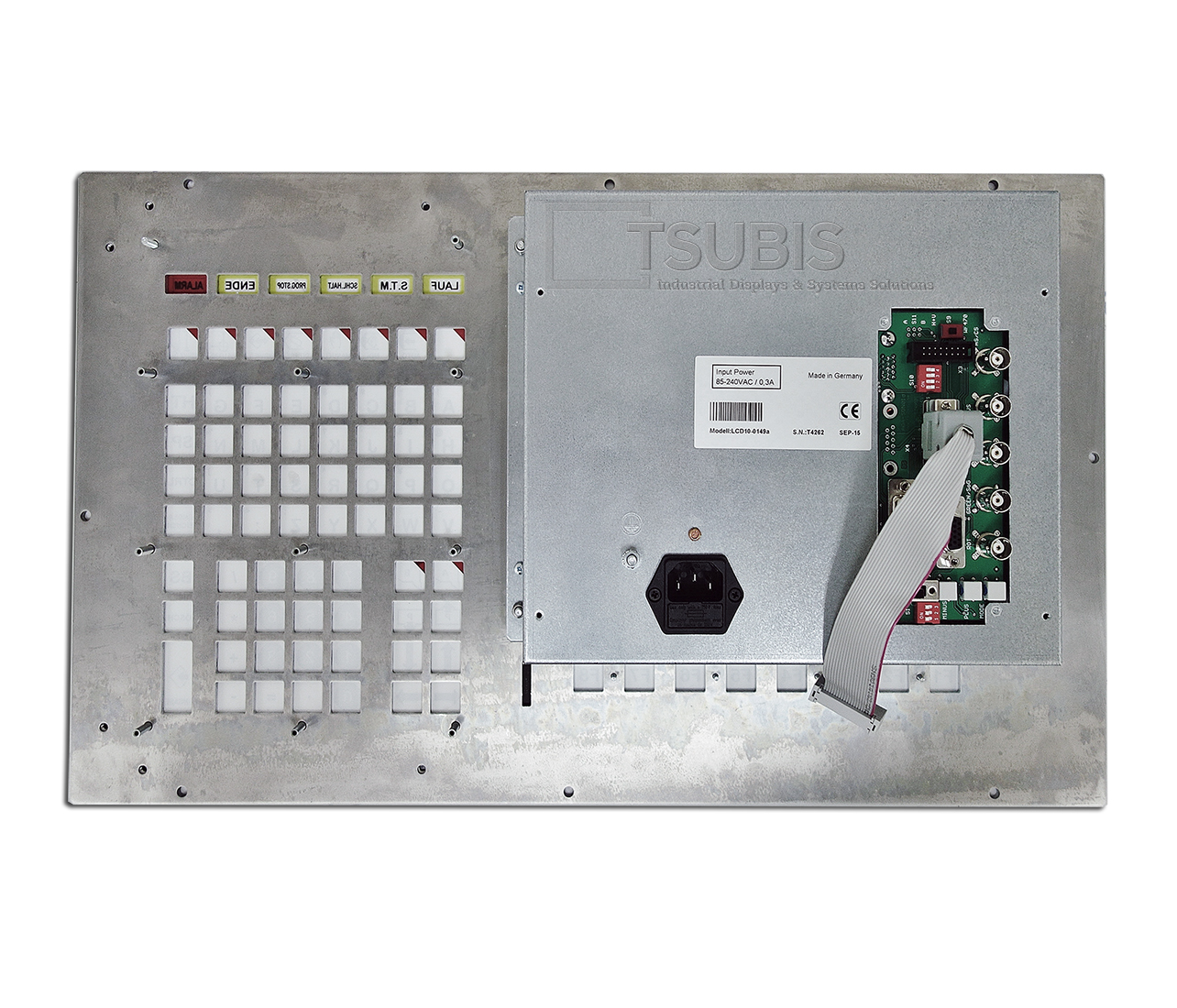 Replacement monitor for Okuma OSP 5020 including control panel